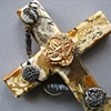 CLOSE UP CROSS WITH LOTUS, BEADS, & WIRE