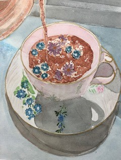 Jennifer Sue Banham @jennysue3651 Cuppa (Reference on Pinterest) Fall 2020 Prof. Carol Bishop, Acrylic II