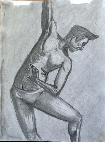 Joel Crowder Life Drawing From A Safe Social Distance @art_of_jdot Spring 2020 Prof. Erica Ryan Stallones, Life Drawing I