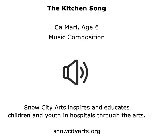 Ca Mari, age 6, The Kitchen Song