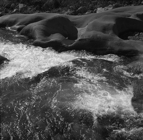 Sespe Creek Rapids at Outcropping