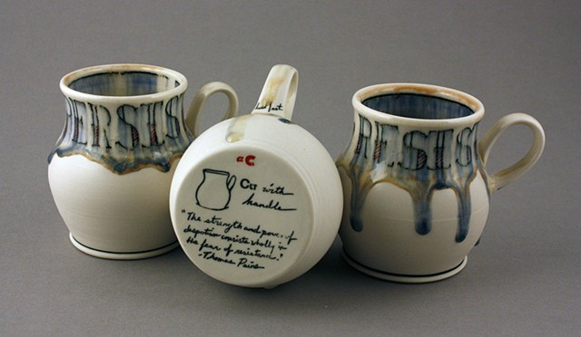 3 Cups with handles
