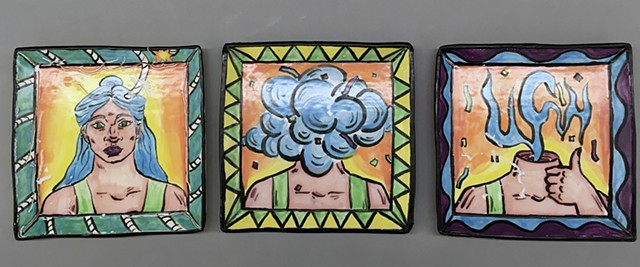 Lora Vega - Majolica Narrative Plate Project