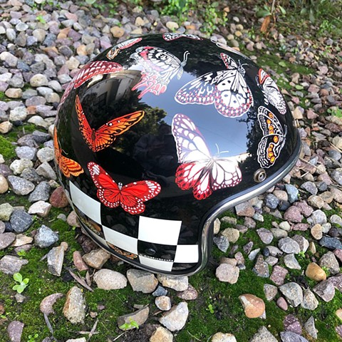 Bullet With Butterfly Wings helmet