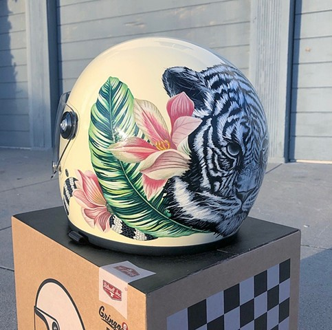 Eye of the Tiger helmet, back left