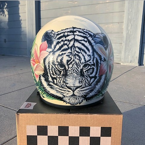 Eye of the Tiger helmet, back