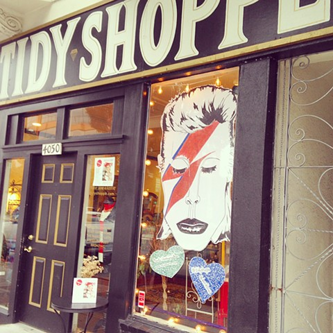Window hanging décor for The Tidy Shoppe