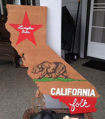 California wood cut sign