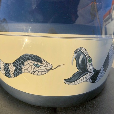 Eye of the Tiger helmet, detail