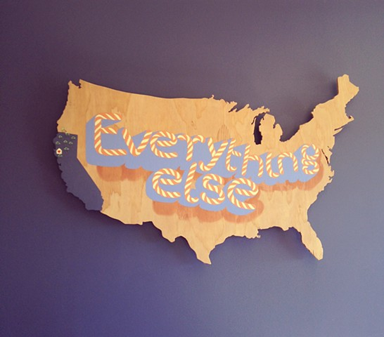 Everything Else wood cut sign