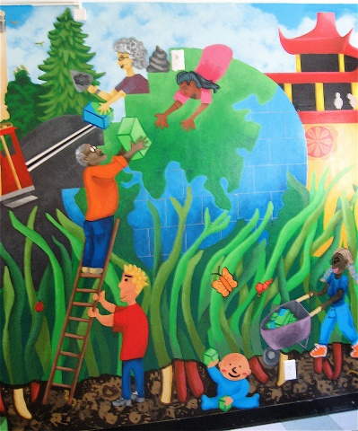 Detail, Telegraph Hill Neighborhood Center Mural