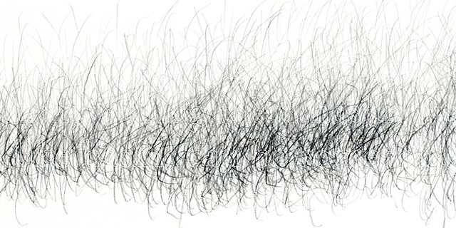 Joanne Aono Hashi Sticks Twin Graphite Drawing