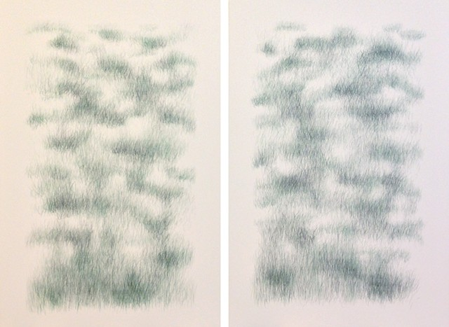 Joanne Aono Green Fields East/West Hashi Diptych