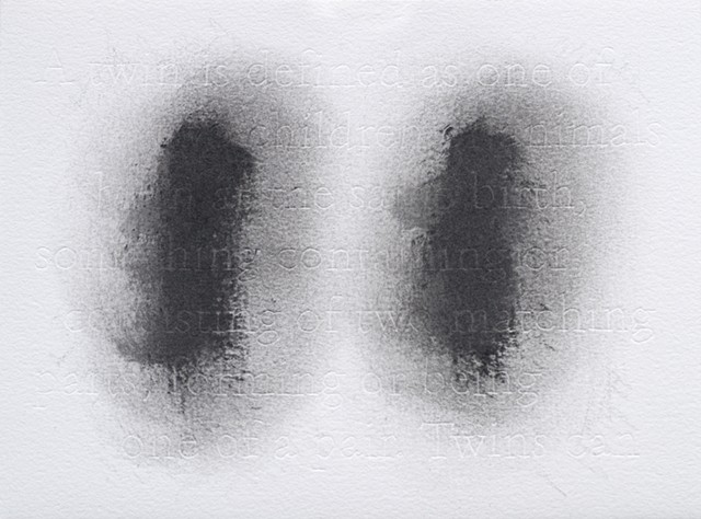 joanne Aono Twin Futago Graphite Drawing