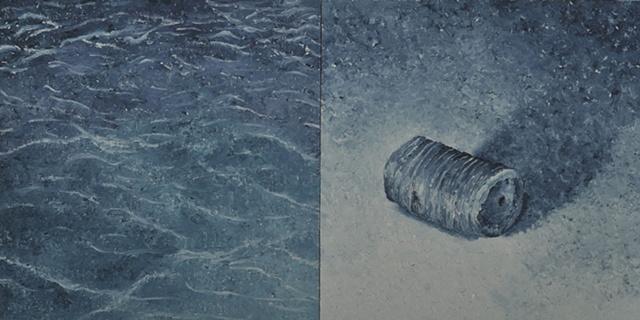Joanne Aono crinoid Lake Michigan Oil Painting