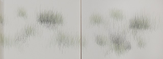 Joanne Aono, Home Fields, drawing, Green Fieldscape