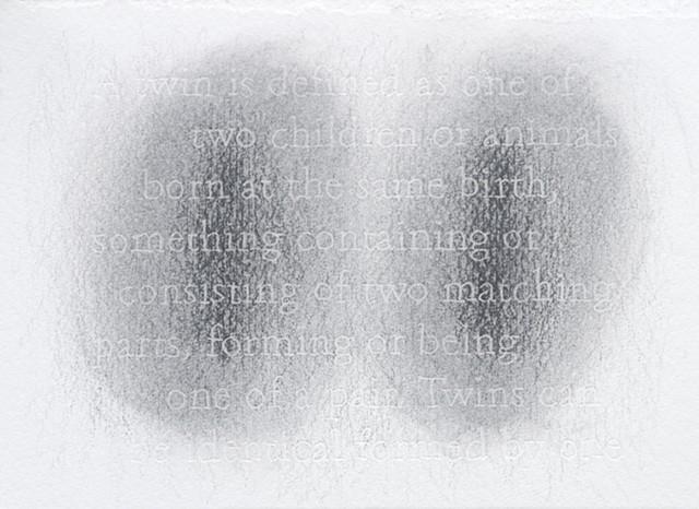 joanne Aono Twin Futago Graphite Drawing