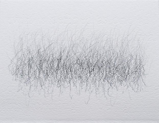 joanne Aono Twin Futago Hashi Graphite Drawing