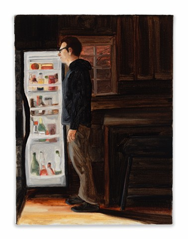Gwendolyn Zabicki, Gwen Zabicki, painter, artist, Chicago, paintings, refrigerator, night cheese