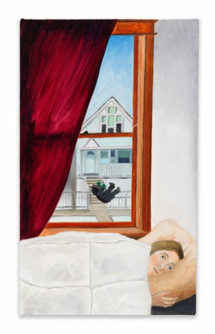 Gwendolyn Zabicki, Gwen Zabicki, painter, artist, Chicago, paintings, hypnic jerk, sleep start, startled awake
