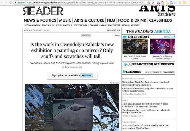 Windows, Doors, and Mirrors in the Chicago Reader