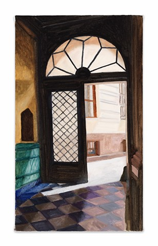 Gwendolyn Zabicki, Gwen Zabicki, painter, artist, Chicago, paintings, open door Berlin