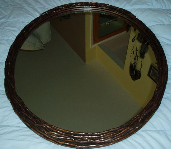 Scalise powder room mirror