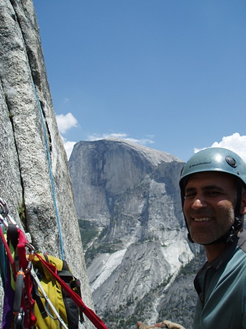 Ahad Sabet on Waqshington Column with Half Dome in the Background