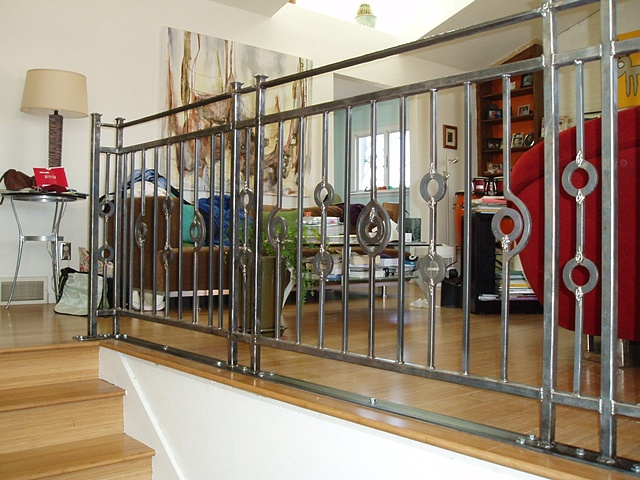 Custom Rail / foyer view