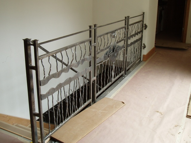 Custom Railing Project / Interior balcony