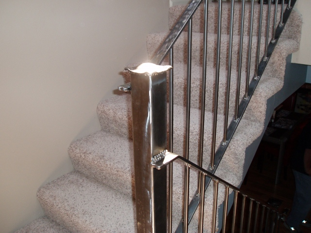 brushed  steel  railing in Wyoming