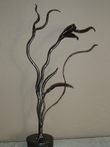 Blowing in the Wind / Wrought iron sculpture