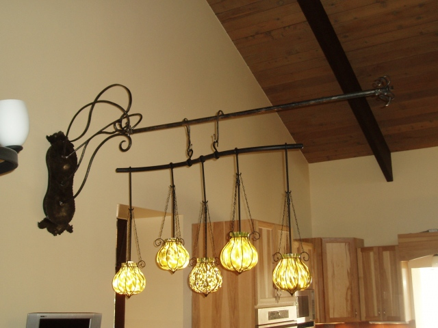 Ornamental lighting valance for floating chandalier