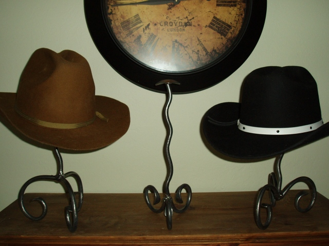 custom wrought iron hat stands