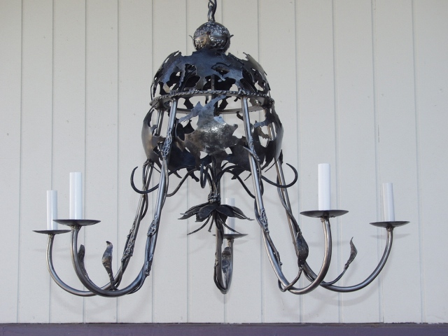 Dome Chandelier / Breathing Metal series