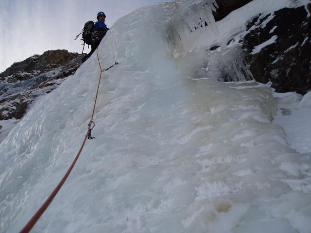 3rd ice step / North Face of Notch Top, RMNP