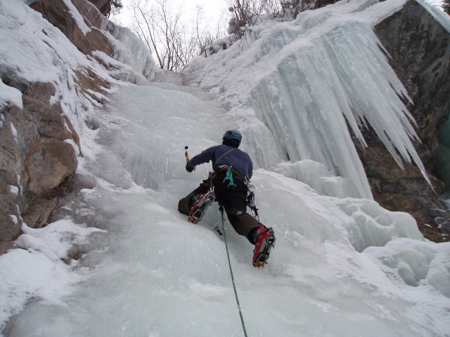 Ahad Sabet on some juicy ice in Vail, CO.