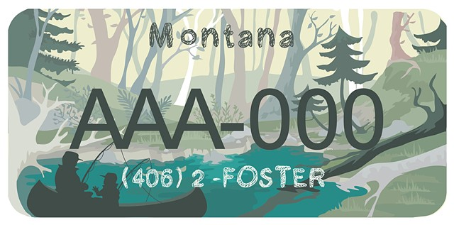 Montana License Plate for Childshare