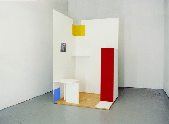Mondrian Cubicle (for reading Pessoa)