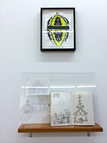 Triple Masquerade: Ink Drawings, Vessels, Notebooks