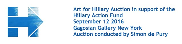 work included in auction to benefit Hillary Clinton