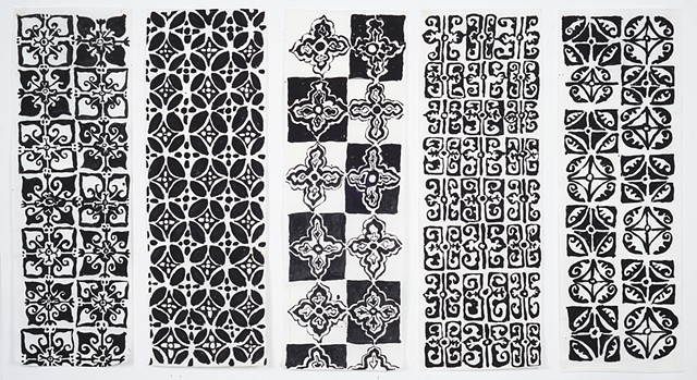 Five Patterned Scrolls