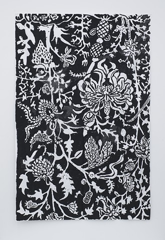 Mirza Raja Jai Singh's Floor Covering White on Black (one)