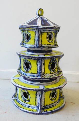 Yellow Pavilion Birdhouse