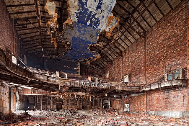 urban decay photography urbex beautiful deconstruction theater gary palace