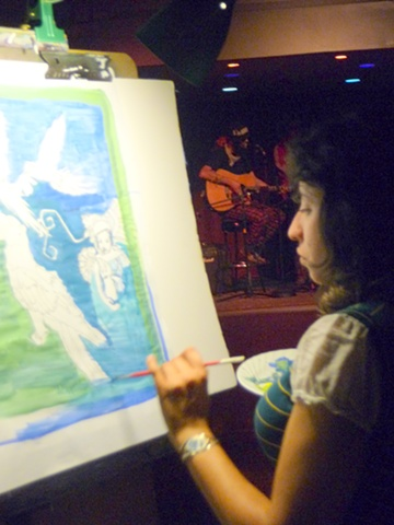 Live Painting @ Blue Macaw.