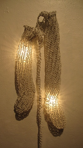 Knitted electrical wire
