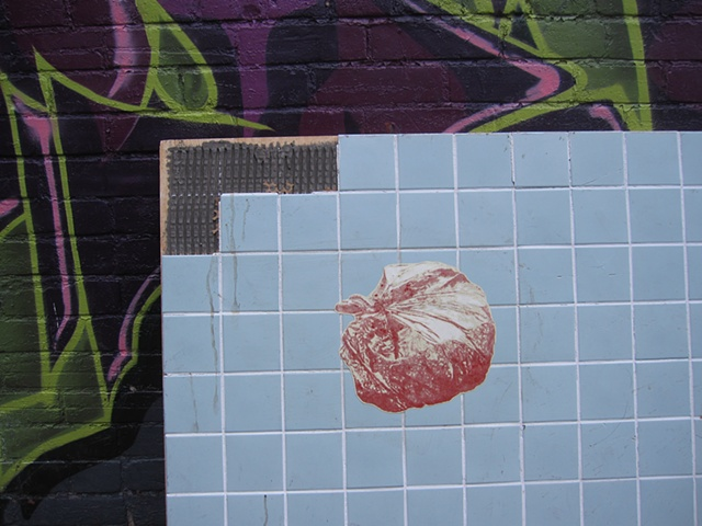 Screen Prints in the alleyway south of Queen St. W