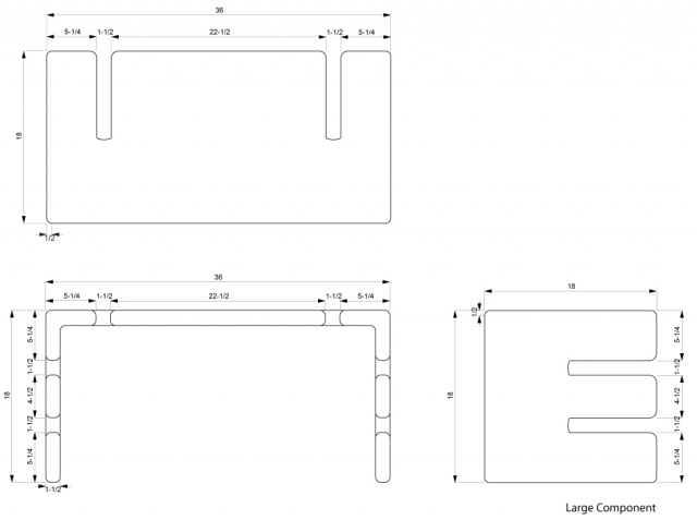 Large Component Dimensions