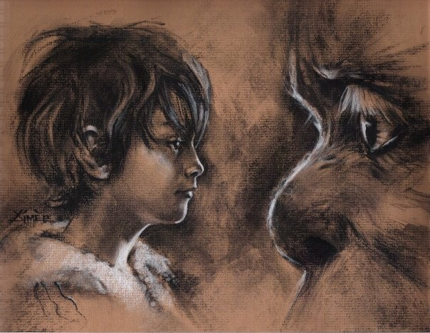 aimee kuester animal monster children book story where the wild things are max carol la charcoal pastel for sale drawing art artwork portrait